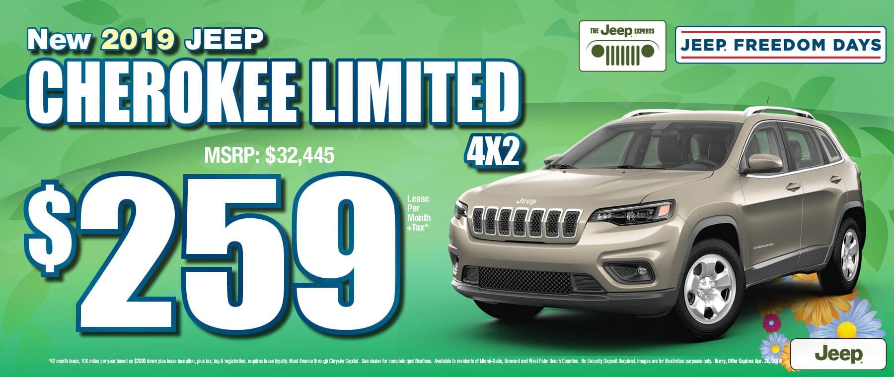 Cherokee $259 Lease