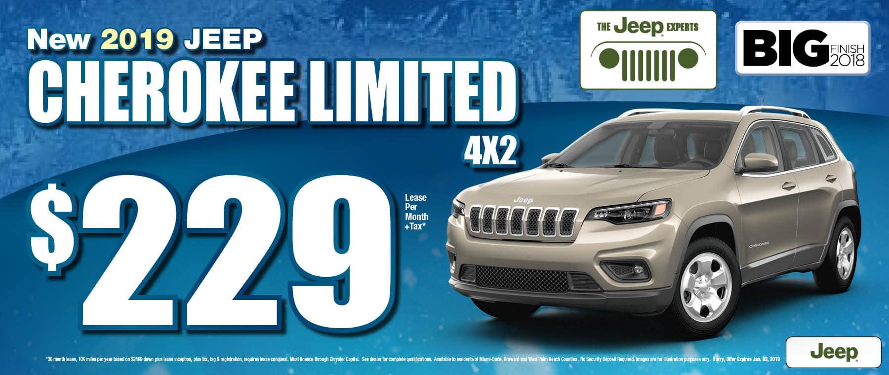 2019 Cherokee $229 Lease