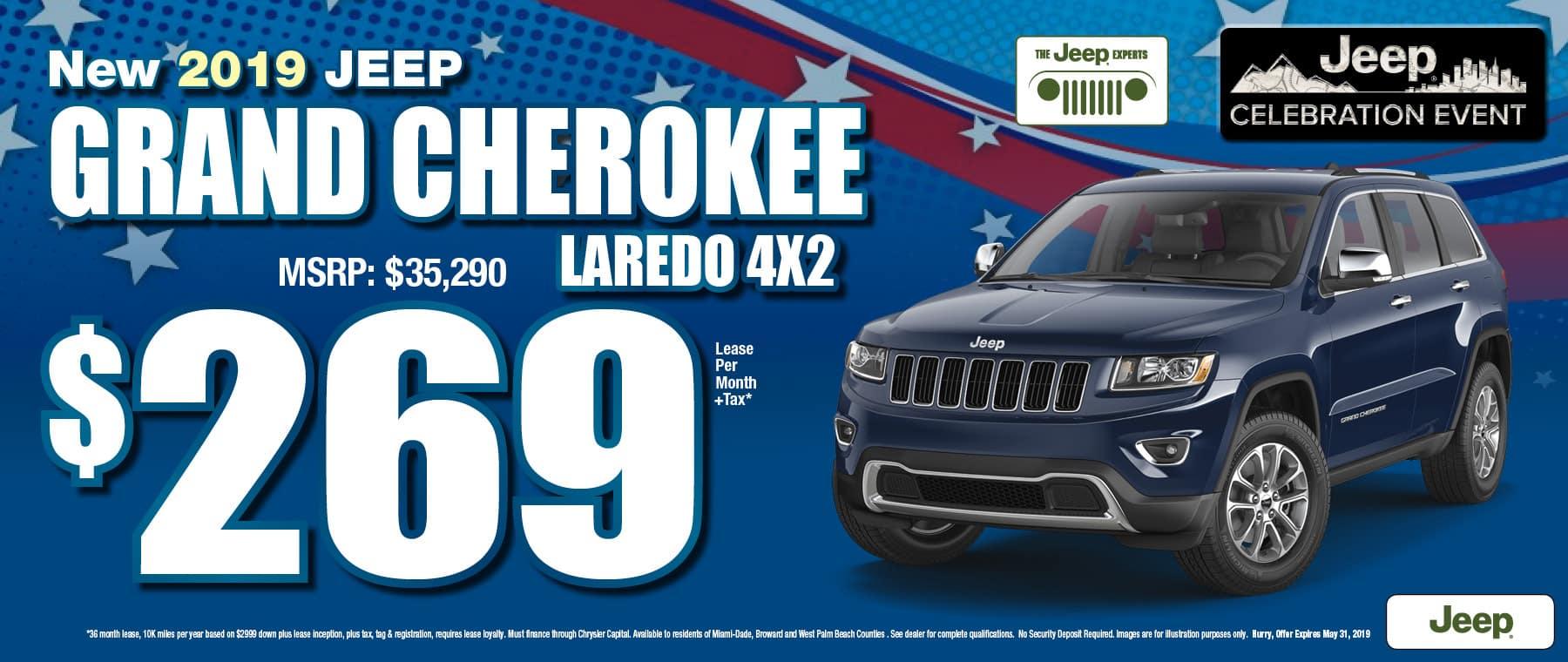 Grand Cherokee $269 Lease