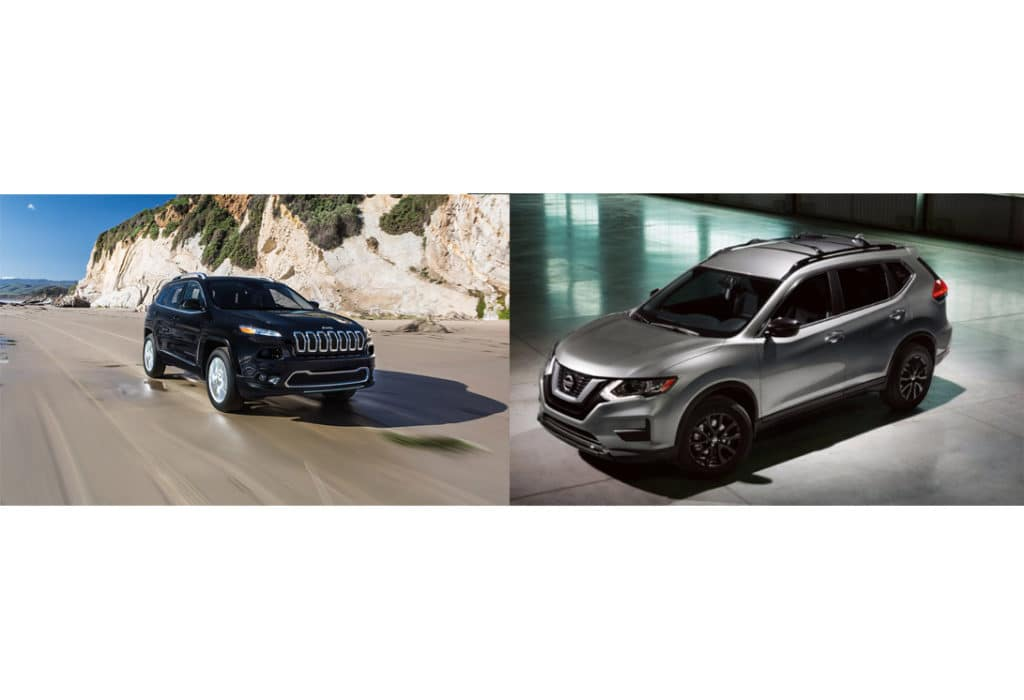 comparison 2018 jeep cherokee v 2018 nissan rogue. Black Bedroom Furniture Sets. Home Design Ideas