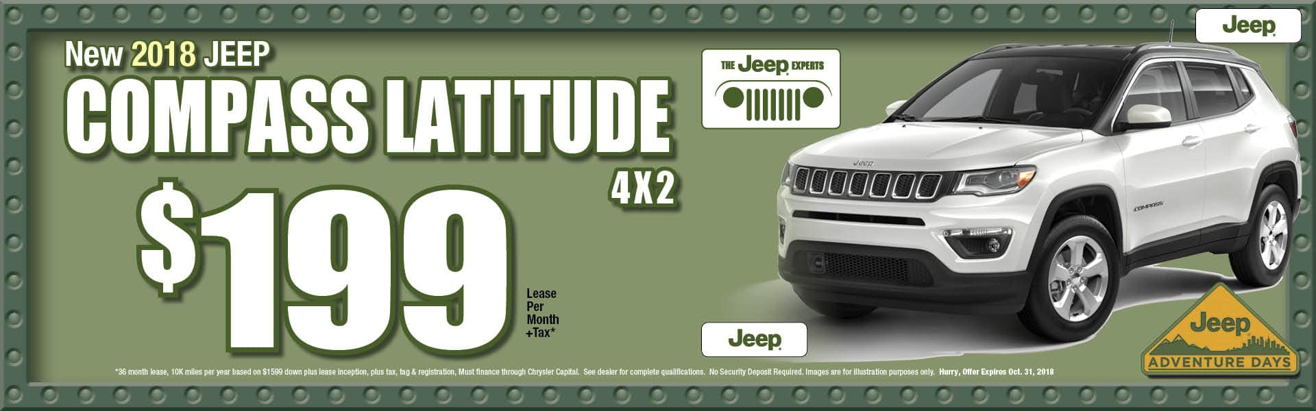 Compass Latitude FWD $199 Lease