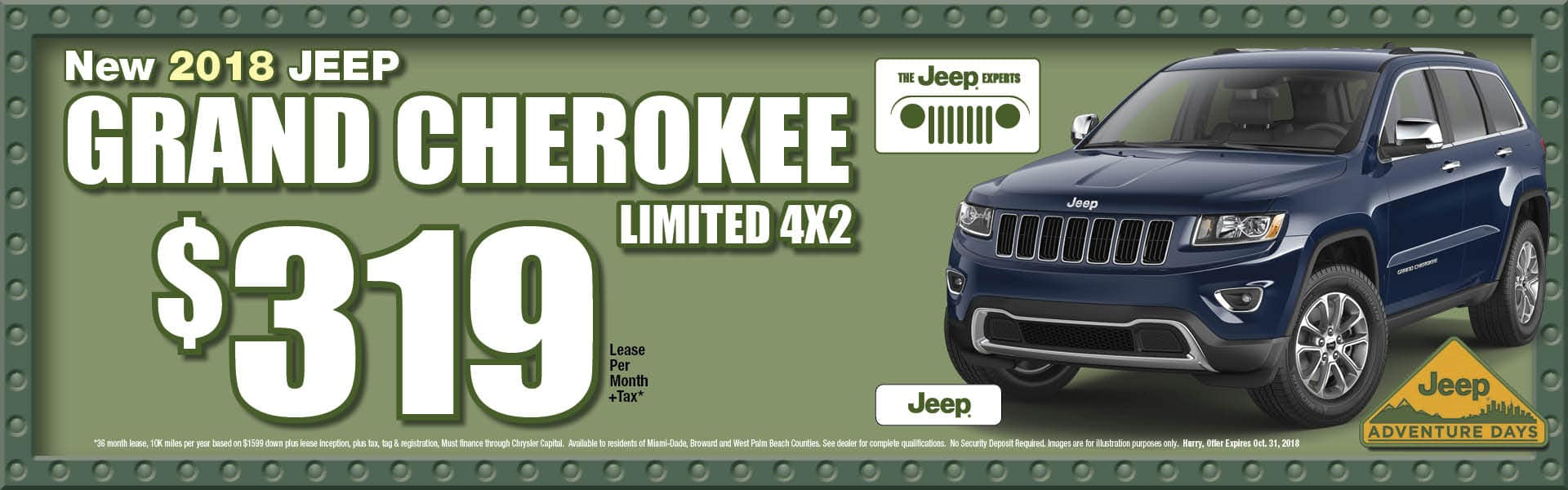 Grand Cherokee Limited 4x2 $319 Lease