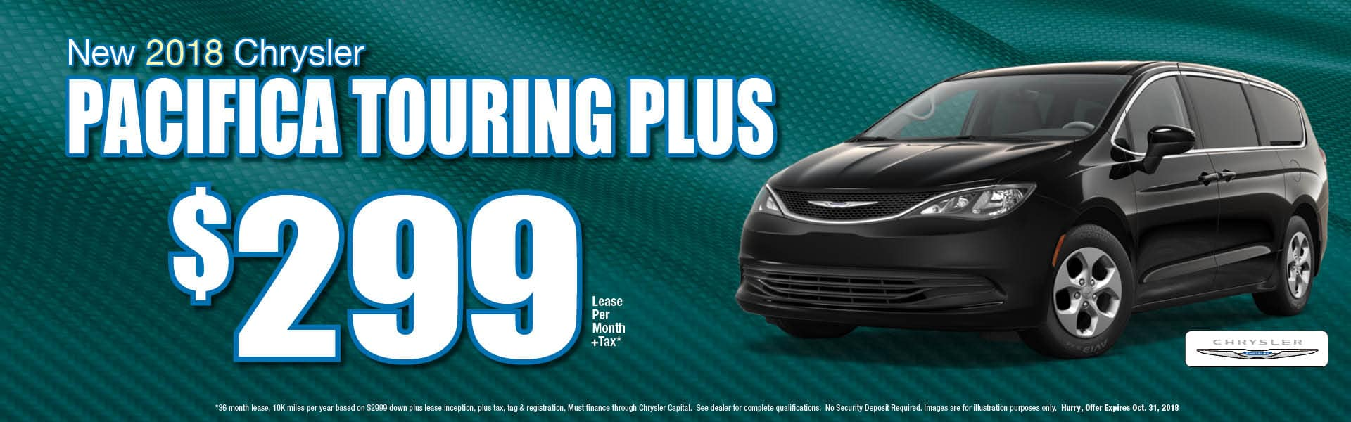 Pacifica Touring Plus $299 Lease