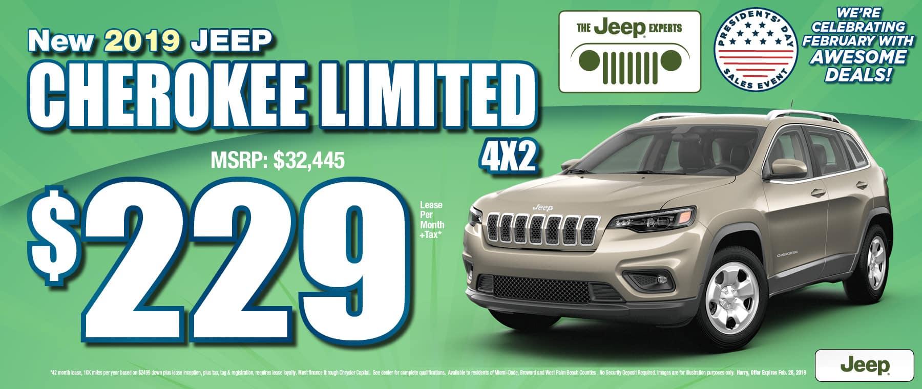 Cherokee $229 Lease