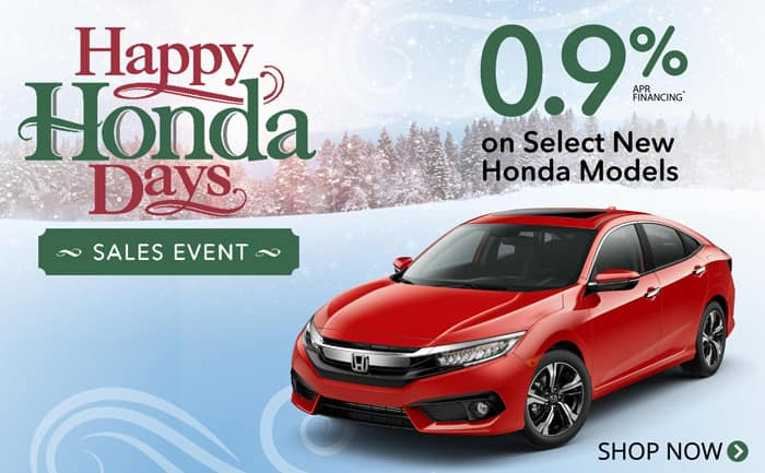 Happy Honda Days 0.9% financing
