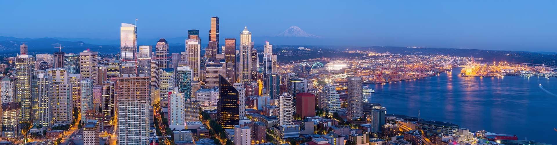 Honda Of Kirkland Lease Return Center. Seattle Skyline Panorama