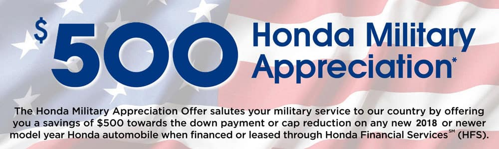 Awesome Honda Military Appreciation Offer