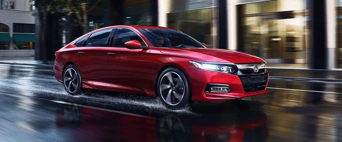 2019 Honda Accord in red