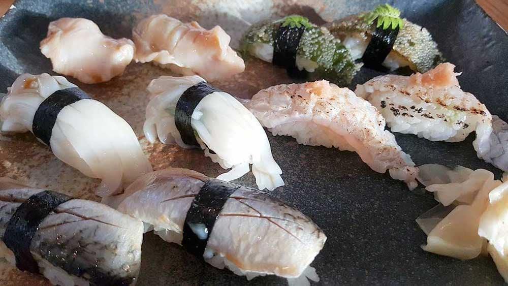 Nigiri at Sushi Kashiba