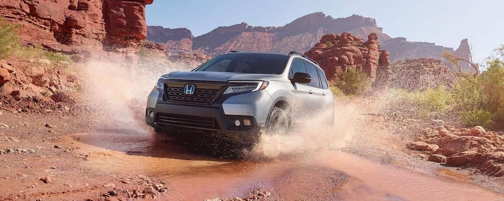 2019 Honda Passport in the mud
