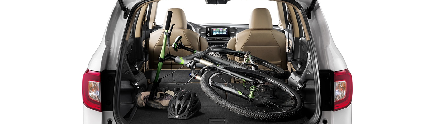 2020 Pilot with a bike in the cargo area