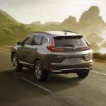 2020 CR-V Hybrid driving on a coastal road