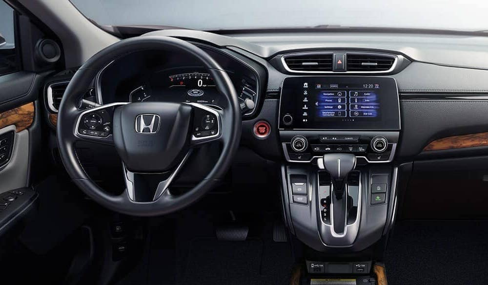 2020 CR-V Hybrid steering wheel and infotainment