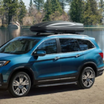 2020 Honda Pilot parked by the water