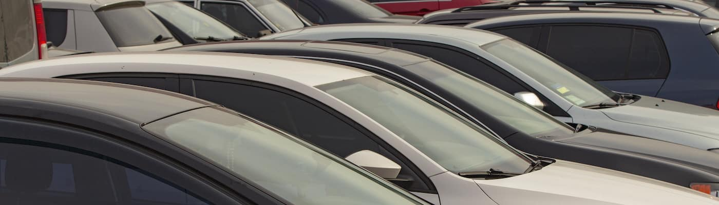 Lineup of used cars