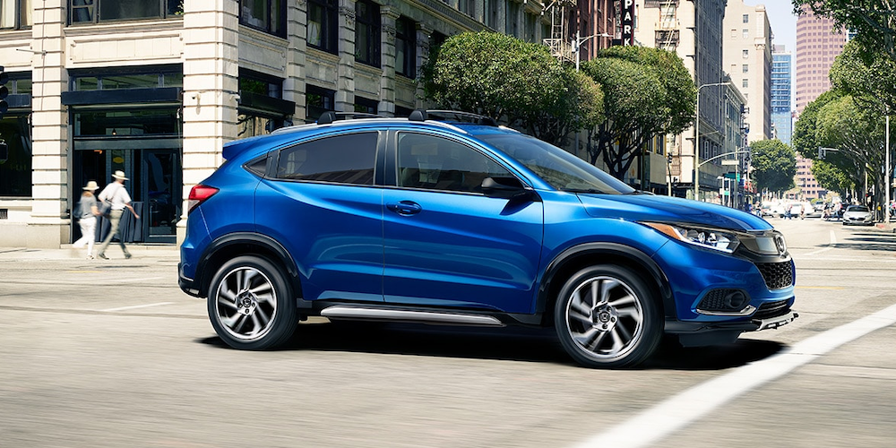 2020 Honda HR-V in a city intersection