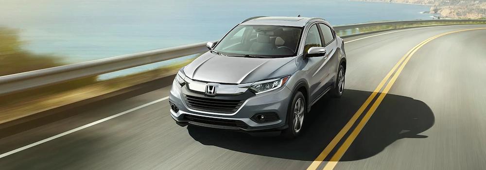 2020 Honda HR-V on a coastal road