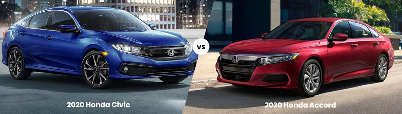 2020 Honda Civic vs 2020 Honda Accord