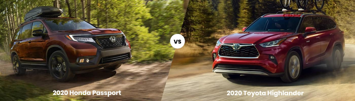2020 Honda Passport vs 2020 Toyota Highlander