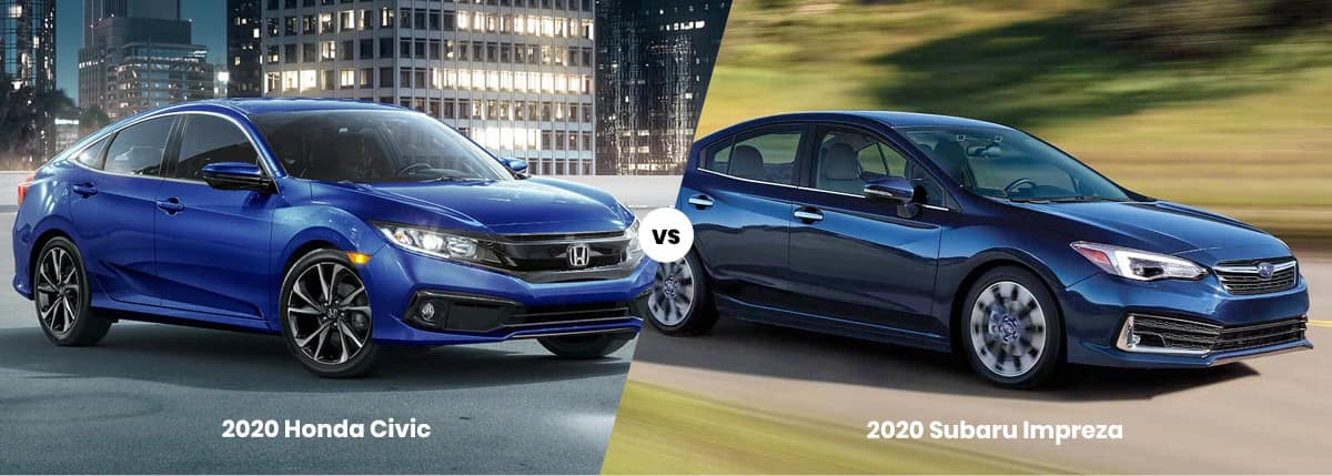 2020 Honda Civic vs 2020 Subaru Impreza
