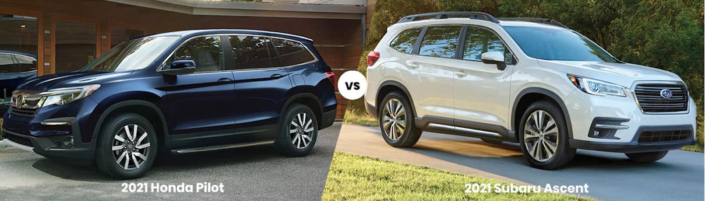 2021 Honda Pilot vs. 2021 Subaru Ascent