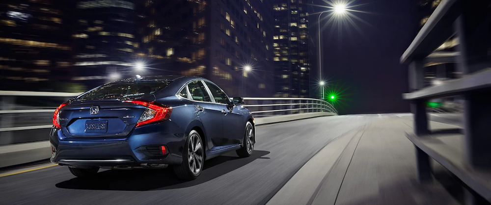 2020 Civic Sedan driving at night