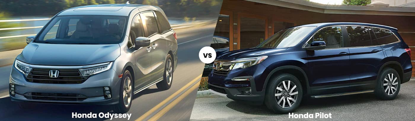 2022 Honda Odyssey vs Honda Pilot