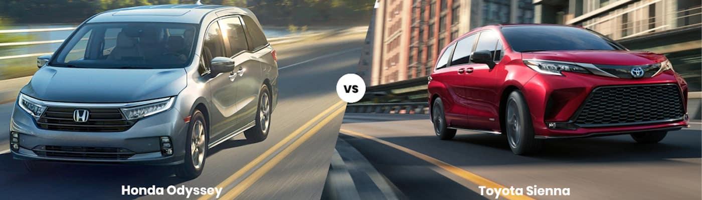 2022 Honda Odyssey vs Toyota Sienna