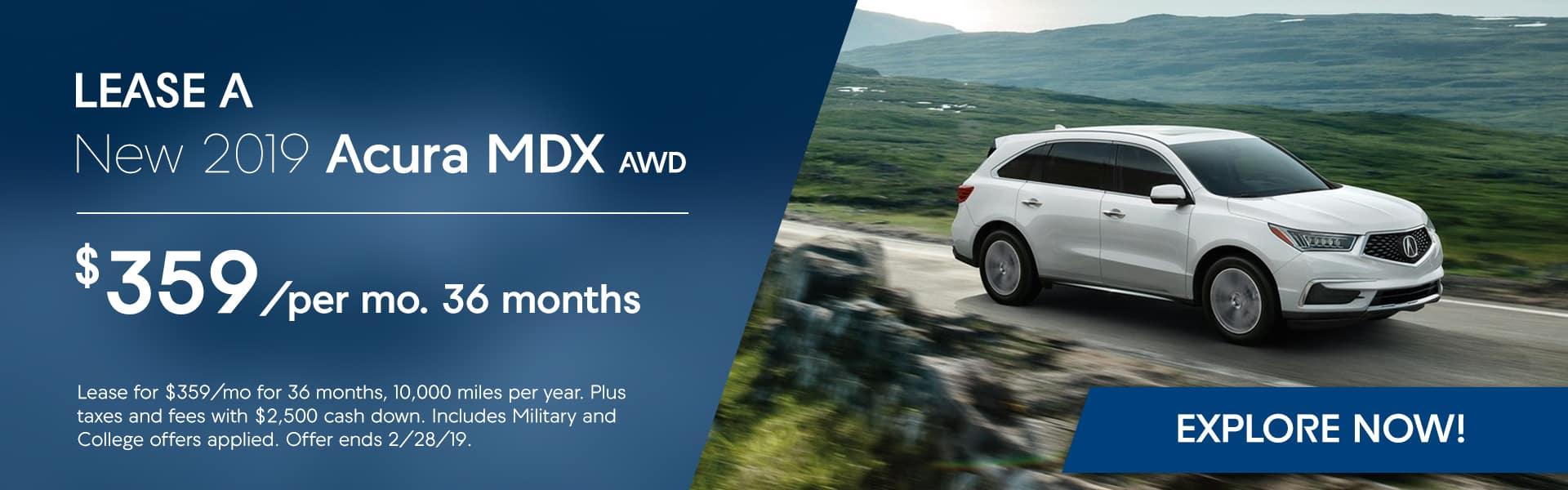 2019 MDX at Hubler Acura