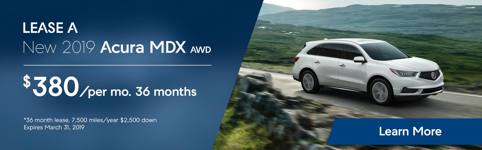 MDX specials at Hubler Acura for Feb 2019