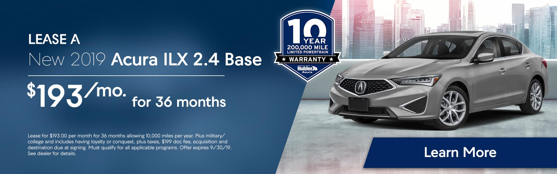 ILX Offer at Hubler Acura
