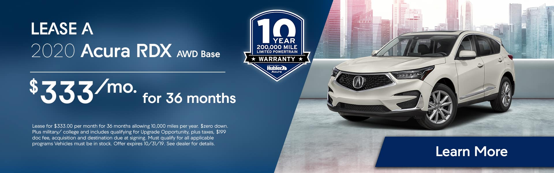 RDX offers at Hubler Acura
