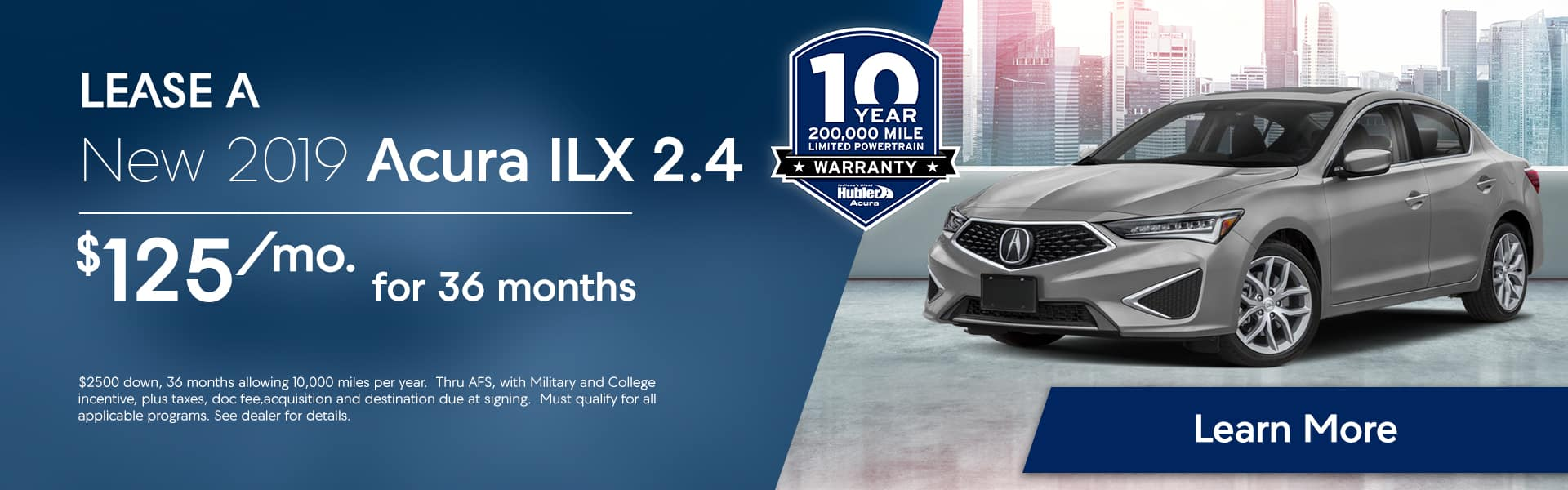 ILX offer for July at Hubler Acura