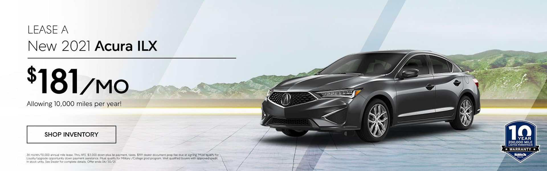 2021 Acura ILX just $ 181.00 per month, Allowing 10,000 miles per year!