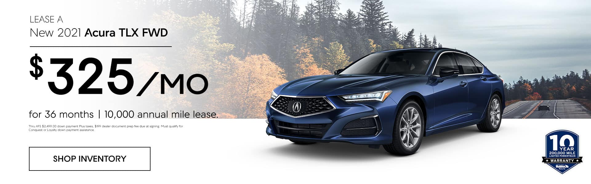 New 2021 Acura RDX FWD $ 408/month 36 month/10,000 annual mile lease