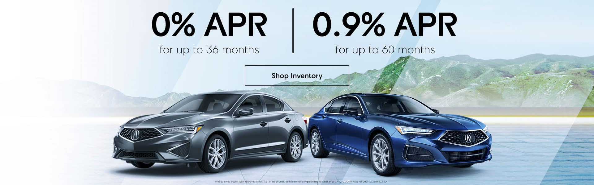 0% up to 36 mos. 0.9% up to 60 months.