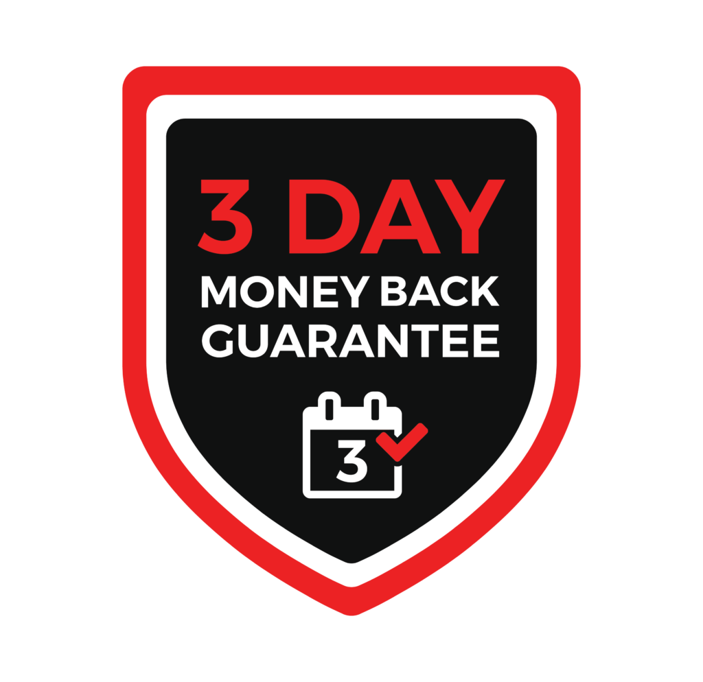 3 Day money back guarantee