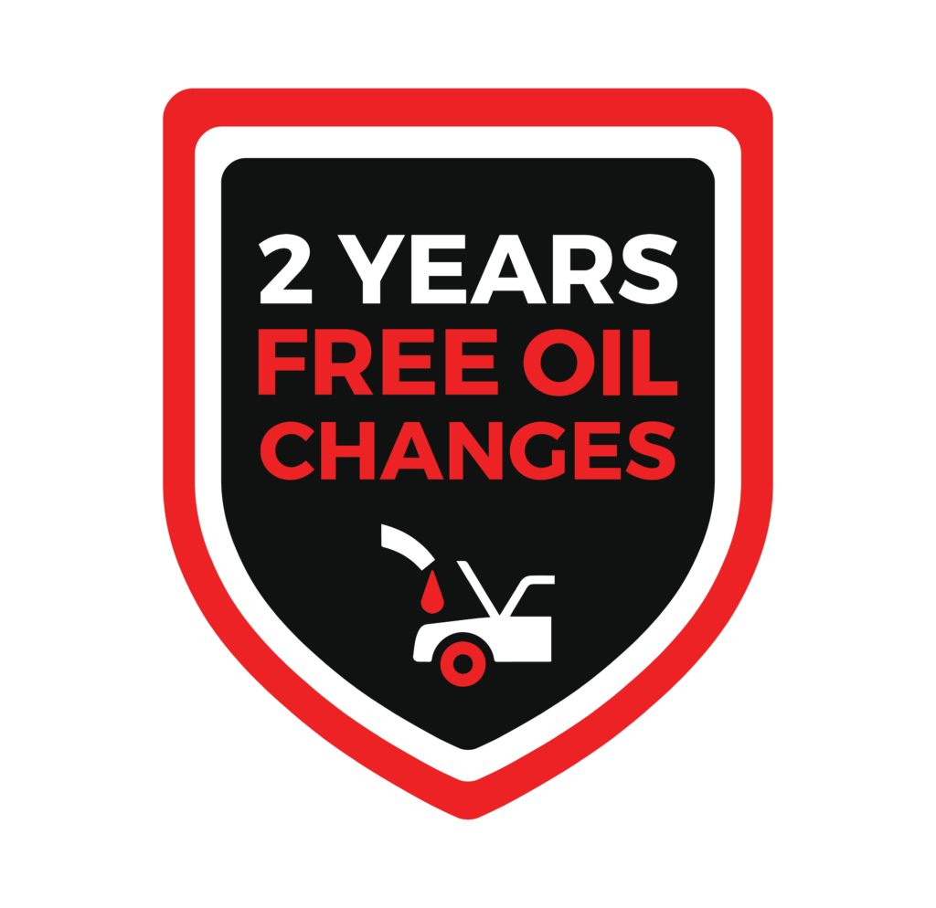 2 years free oil changes