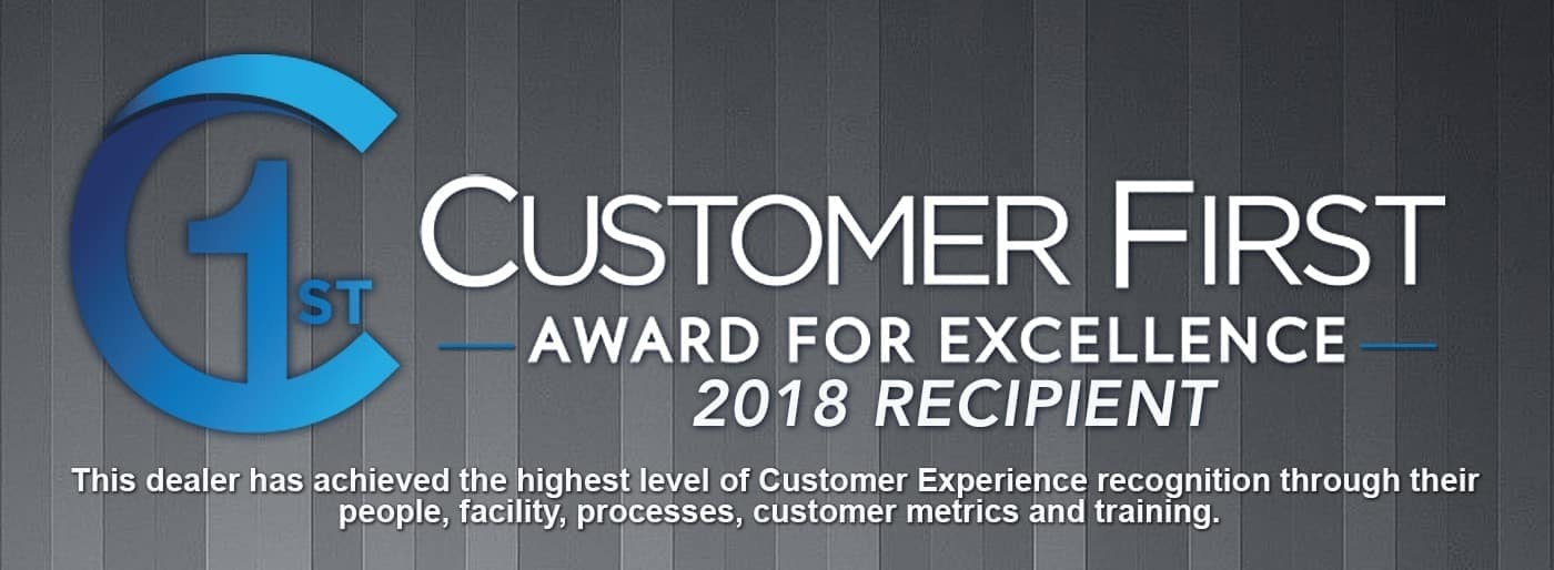 Customer First Award for Excellence 2018 Recipient Banner