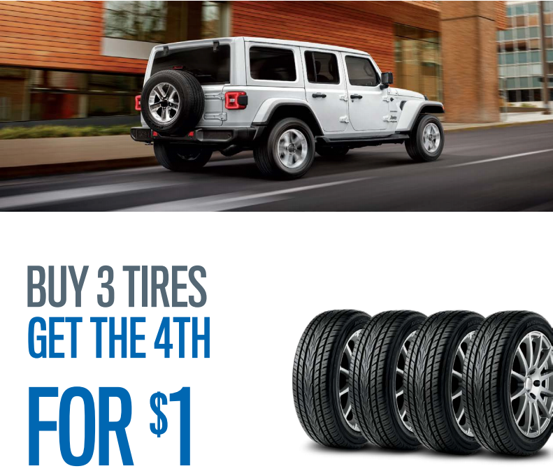 Buy 3 Tires & Get 4th for $1