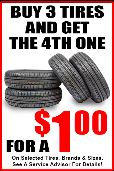 4th tire for $1