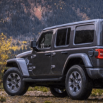 2019 Jeep Wrangler in the mountains