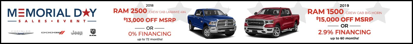 RAm 2500 Memorial Day Offer