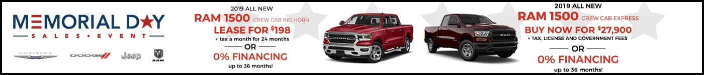 RAM 1500 Memorial Day Offer