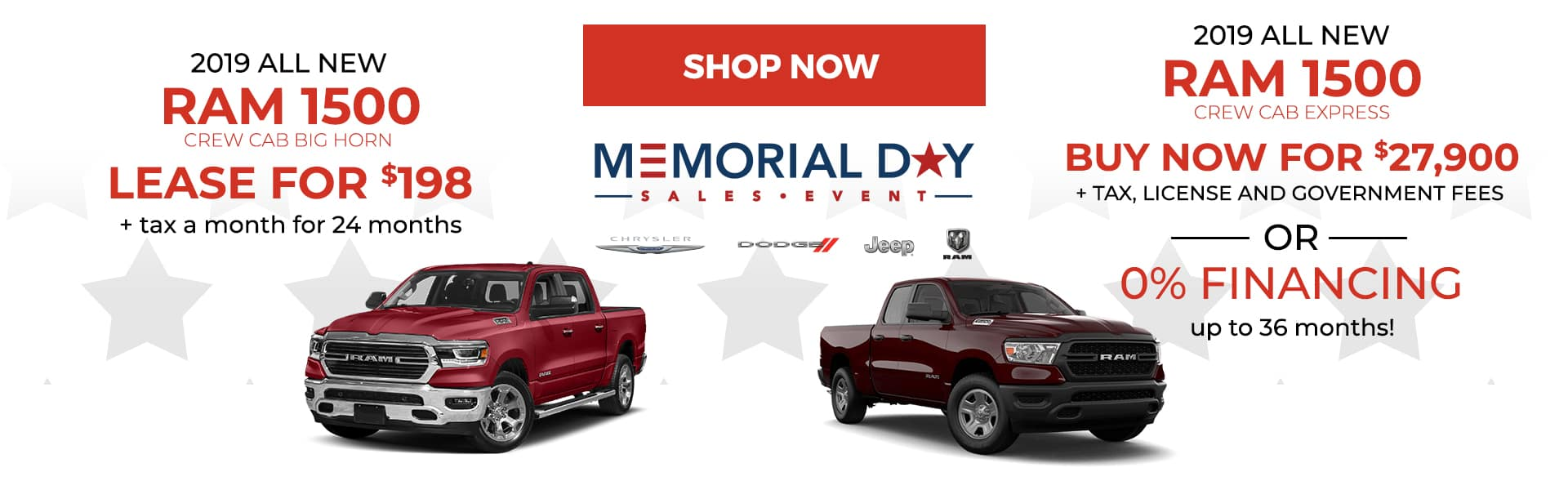 RAM 1500 Memorial Day Offers