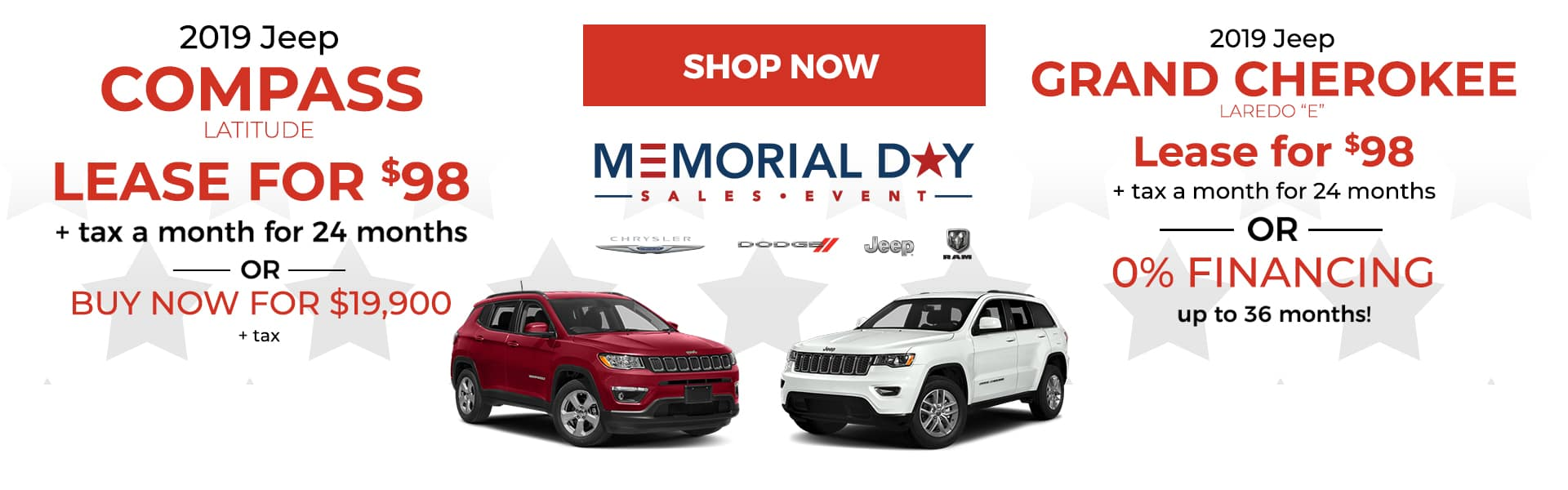 JEEP Memorial Day Offers