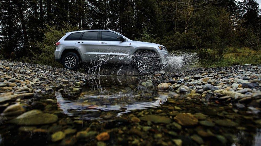 2020 Grand Cherokee driving through a stream