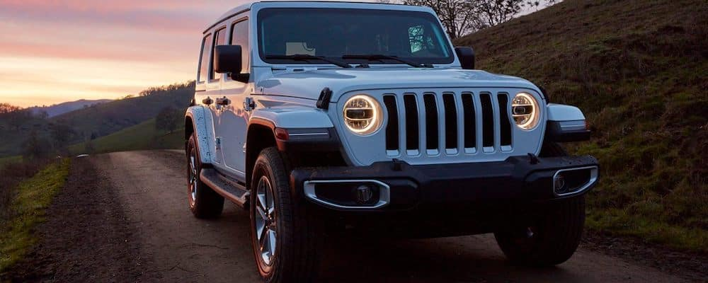 2020 Jeep Wrangler on a dirt road