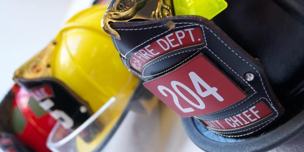 Firefighter helmets