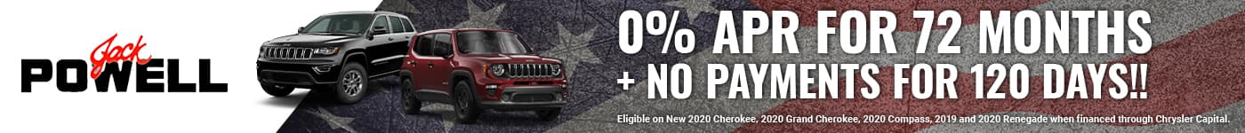 Jeep 0% for 72 months